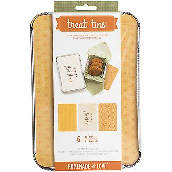 Homemade With Love Food Craft Tins Large 3/Pkg-Thanksgiving 375108
