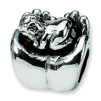 Sterling Silver Reflections Baby In Hands Bead Charm