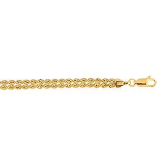 10K oro giallo tessuto intrecciato corda bracciale catena - 7,25 pollici
