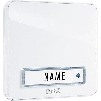 Bell panel with nameplate 1x m-e modern-electronics KTA-1 W White 12 V/1 A