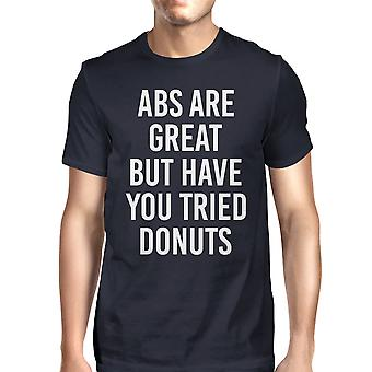 Abs Are Great But Tried Donut Men Navy T-shirts Funny T-shirt