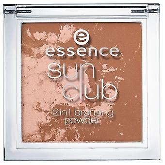 Essence Sun Club 2In1 10 Luce del sole Bronzing Powder (Donna , Make up , Viso , Ciprie)