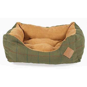Tweed grøn putte Bed 68cm (28