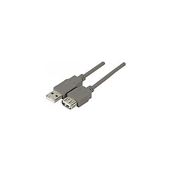 EXC USB 2 0 A-A entry-level Extension Cord grijs 5 m