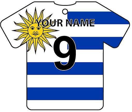 Personalised Uruguay Flag Jersey Car Air Freshener