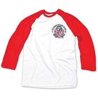 Detronisere vælte Badge Raglan trøje - hvid/rød