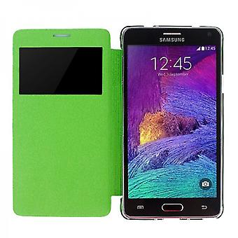 Smart Cover Green Window pour Samsung Galaxy Note 4 N910 N910F