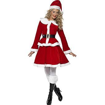 Miss Santa Nikolaus Damen Kostüm mit Muff