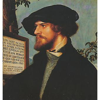 Hans The Younger - Portrait of Boniface Amerbach Poster Print Giclee