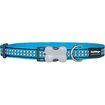Red Dingo Reflective Dog Collar Turquoise (Dogs , Walking Accessories , Collars)