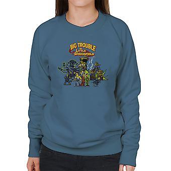 Store problemer i lille Springfield Simpsons Kina kvinders Sweatshirt