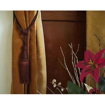 Paar - Brown dekorative handgefertigte Raffhalter / Tassel / Vorhang Holdback