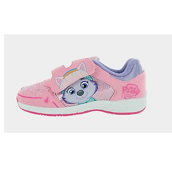 Girls Paw Patrol Everest Pink Hook and Loop Trainers UK Sizes 5 -10