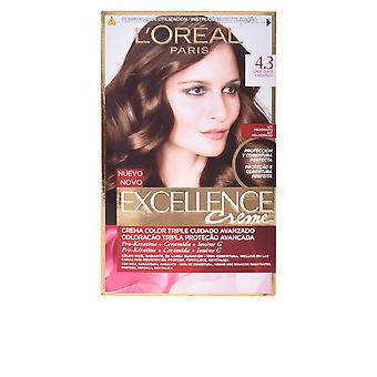 L'Oreal make-up Excellence Creme Tinte #4,3 chocolade Caramelo voor vrouwen