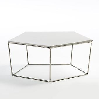Wellindal CENTRO STEEL AND MDF WHITE TABLE