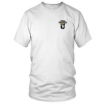 US Army - 101st Airborne Division 506th Aiborne Infantry Regiment 3rd Battalion Shock Force Embroidered Patch - Mens T Shirt