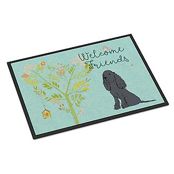 Welcome Friends Black Cocker Spaniel Indoor or Outdoor Mat 24x36