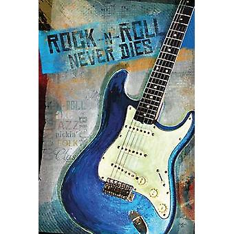 Rock-N-Roll Never Dies Poster Print by Mollie B (20 x 30)