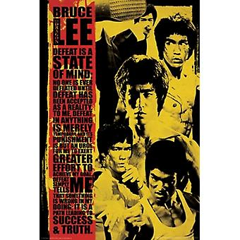 Bruce Lee - Defeat is a State of Mind Montage Poster Poster Print
