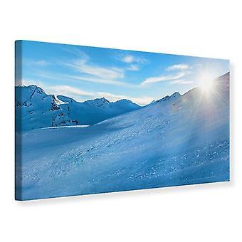 Kanvas Print foto Wallaper Sunrise i bjergene