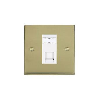 Hamilton Litestat Cheriton Victorian Polished Brass 1g RJ12 Outlet-Unshield WH