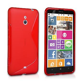 Caseflex Nokia Lumia 1320 silikonowy żel S-Line Case - czerwony