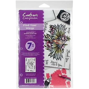Crafter's Companion EZMounted Stamp Set-Find Your Wings CCSTFYW
