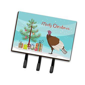 Bourbon Red Turkey Hen Christmas Leash or Key Holder