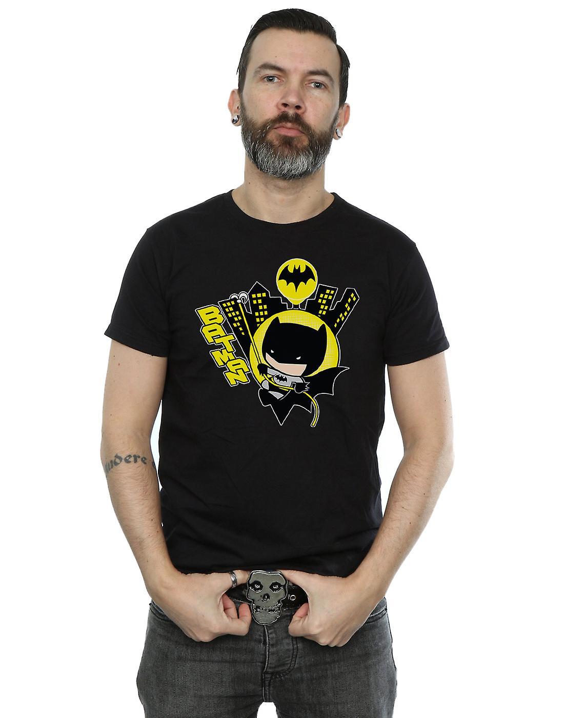 DC Comics Men's Chibi Batman Swinging T-Shirt