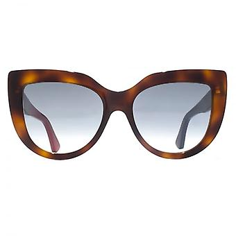 Gucci Oversize Cateye Sunglasses In Light Havana