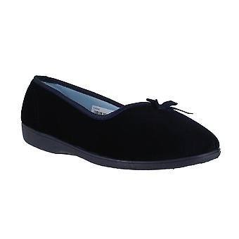 FreeStep Cherie Womens Slip Dual-Fit E/EEE breed velours pantoffels