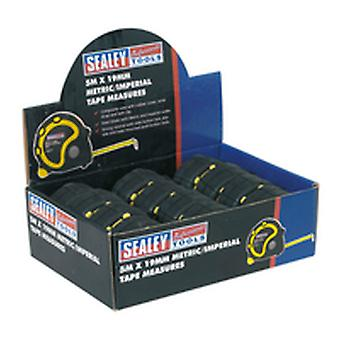 Sealey AK98912 Rubber Measuring Tape 5m (16ft) X 19mm Metric/Imperial 12 Pack