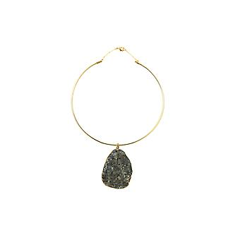 Sweet Deluxe Circular Necklace With Silver Stone