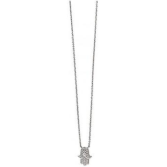 Beginnings Cubic Zirconia Hand of Fatima Necklace - Silver/Clear