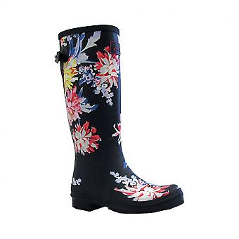 Joules Womens Wellyboots Wellyprint  Navy White