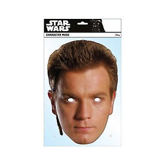Obi-Wan Kenobi Official Star Wars Single Card 2D Party Face Mask