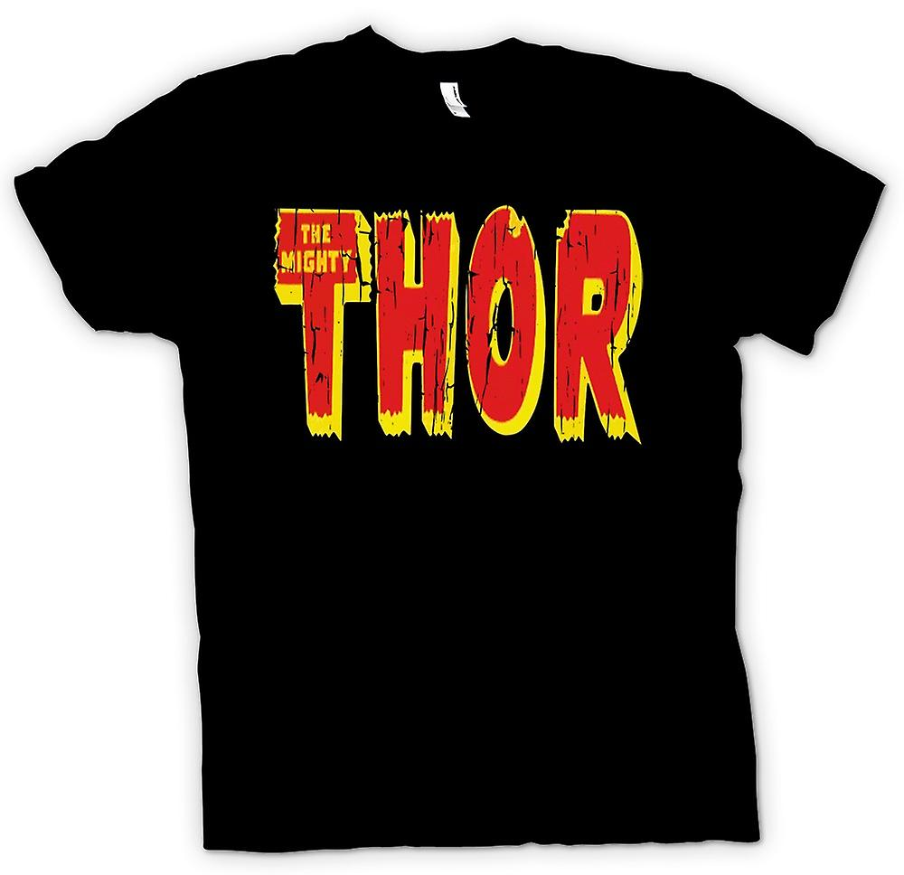 Mens t-shirt-il possente Thor Logo