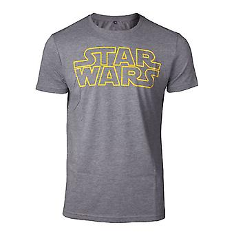 Star Wars Outlines Logo T-Shirt Grey Large (TS728688STW-L)