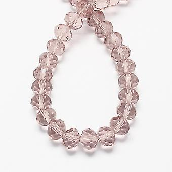 Strand 95+ Pale Pink Czech Crystal Glass 4 x 6mm Faceted Rondelle Beads HA20515