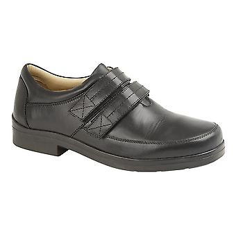 Roamers Mens Leather XXX Extra Wide Touch Fastening Superlight Casual Shoe