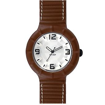 Hip hop watch silicone watch of leather large HWU0206 sabbia dorato