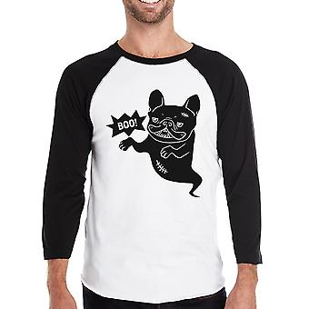 Boo French Bulldog Baseball Shirt For Men Halloween Custom T-Shirt