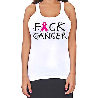 Juniors Dri Fit Fuck Cancer Breast Cancer T-Back Tank Top