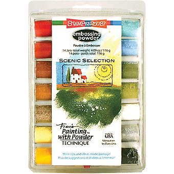 Stampendous Embossing Powder 14/Pkg 4.09oz-Scenic Selection