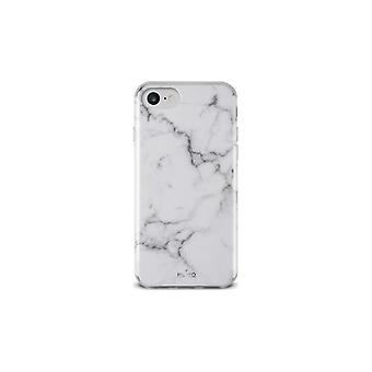 Puro iPhone 8/7/6/6S, Marble Cover, vit