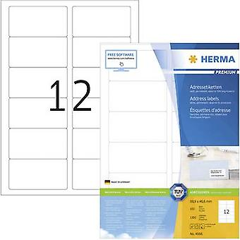 Herma 4666 Labels 88.9 x 46.6 mm Paper White