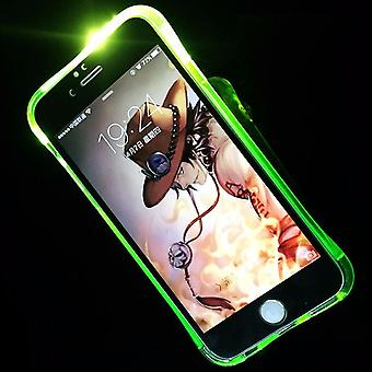 Handy Hülle LED Licht bei Anruf für Handy Apple iPhone 8 Plus Grün