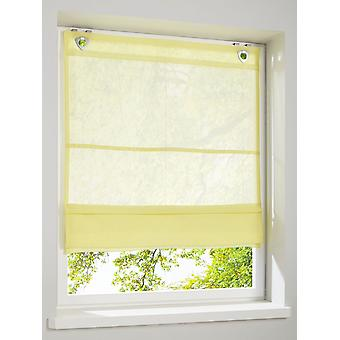 Heine hem underbara lätt transparent romerska skugga gul med krok och öga stängning