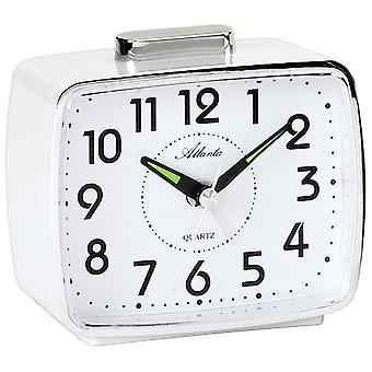Quartz alarm clock alarm clock with Bell signal top shelf white quartz