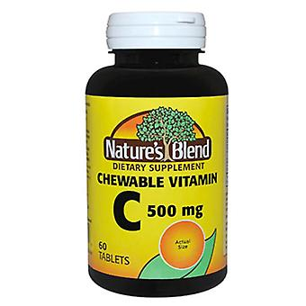 La naturaleza mezcla masticable vitamina C, 500 Mg, tabletas, 60 Ea